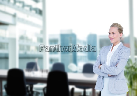 business woman hand folded in the