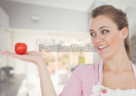 cook woman in the kitchen of