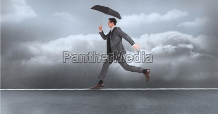 digital composite image of businessman with