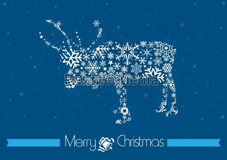 merry christmas background with reindeer