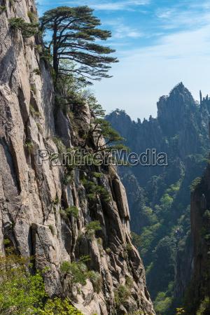 landschaftsaufnahmen der huangshan berge in china