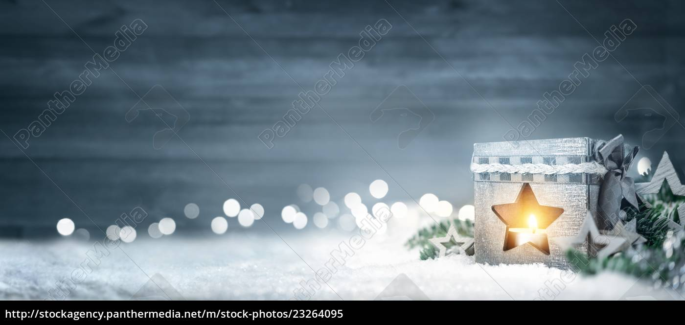 christmas, wood, background, with, lantern, , fir - 23264095