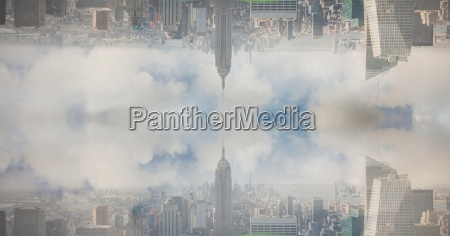 digital composite image of upside down