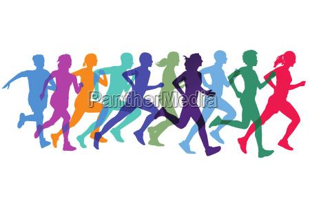 sportlich laufen und joggen