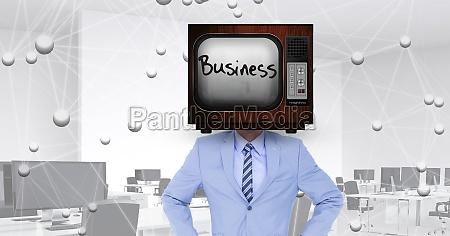 digital composite image of businessman wearing