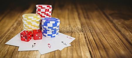 zusammengesetztes bild des kippbildes von casino