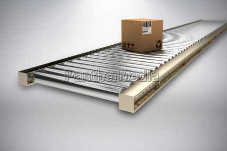 composite image of packed cardboard box