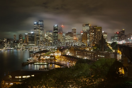 sydney night panorama