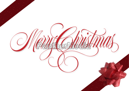 christmas background with red ribbons