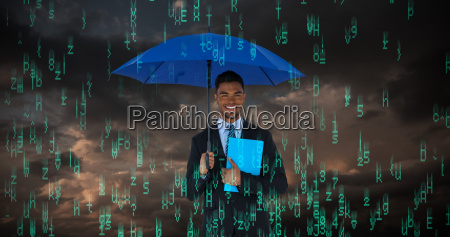 composite image of portrait of businessman