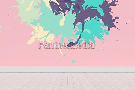 zusammengesetztes bild der bunten farbe spritzt