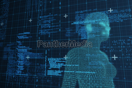 composite image of digital close up