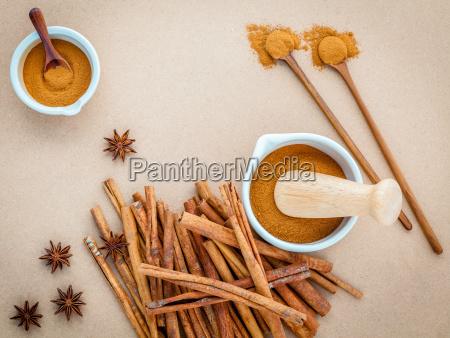 composition of cinnamon stick and cinnamon
