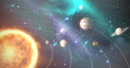 grafisches bild von verschiedenen planeten mit