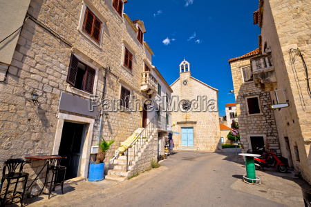 kastel stari stone street and chapel