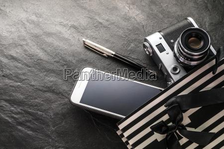 telefon kamera stift in einer schwarzen