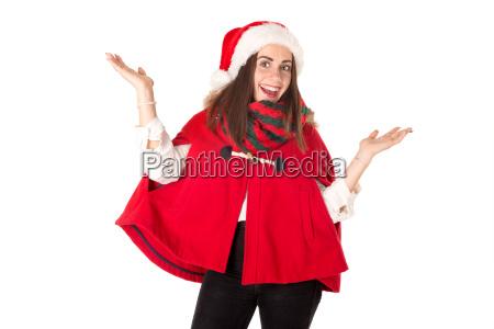 maedchen in weihnachten