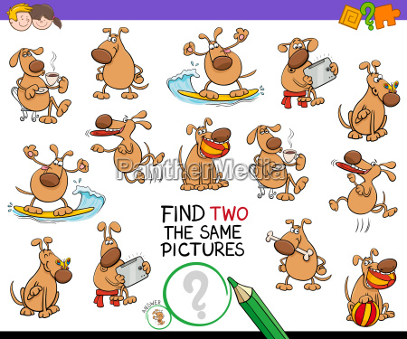 find two the same cartoon dog