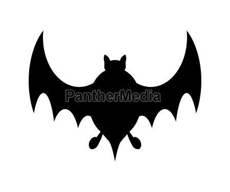halloween bat silhouette vector design