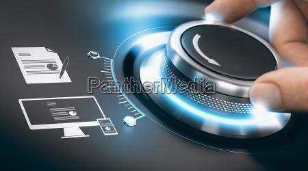 digitaler transformationsprozessdigitalisierung von analogen informationen
