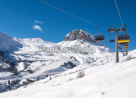 winter dolomiten alpen flaeche voralpen skilaufen
