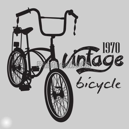 retro bike vintage design vektor