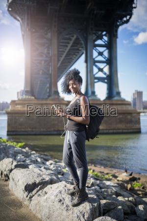 usa new york city brooklyn smiling