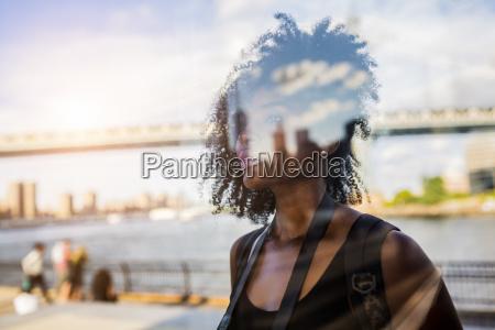 usa new york city brooklyn reflection