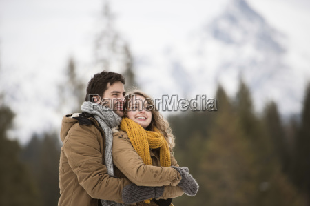portrait of happy young couple in