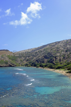 usa hawaii oahu hanauma bay at