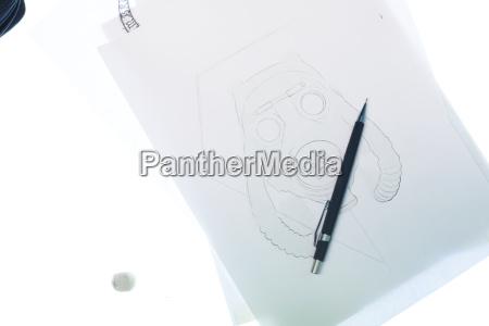 tattoo design motiv auf hellem tisch
