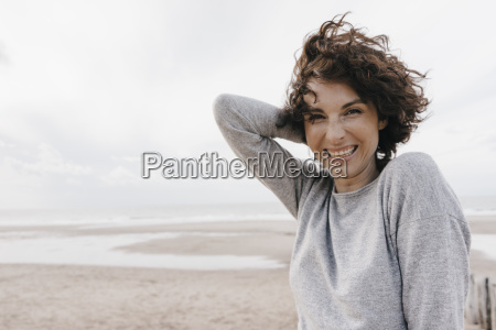 portrait of happy woman on the