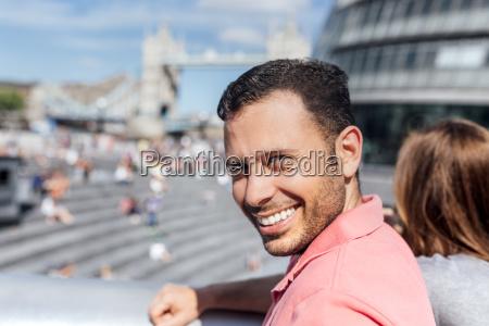 uk london portrait of a smiling