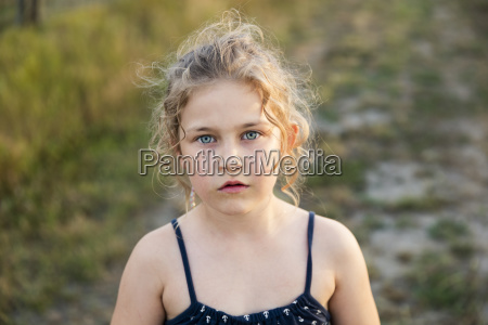 portrait of girl outdoors