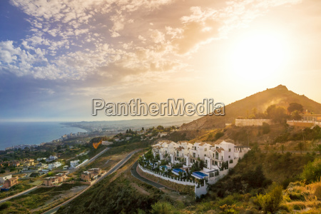 spain andalusia marbella at sunset