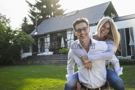 portrait of happy mature couple on