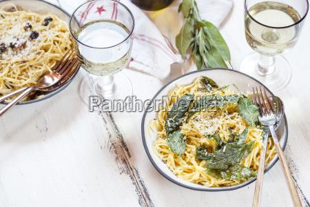 sage pasta with parmesan spaghetti carbonara
