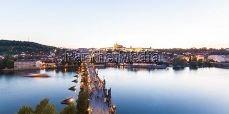 tschechische republik prag stadtbild mit hradcany
