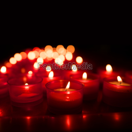 candle lights with bokeh