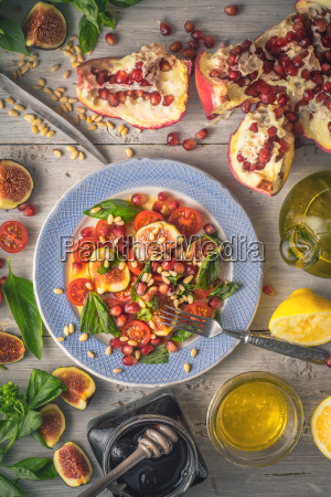 fruit salad with fig on the