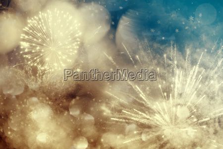 colorful fireworks on the sky holiday