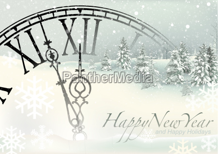 happy new year winter background