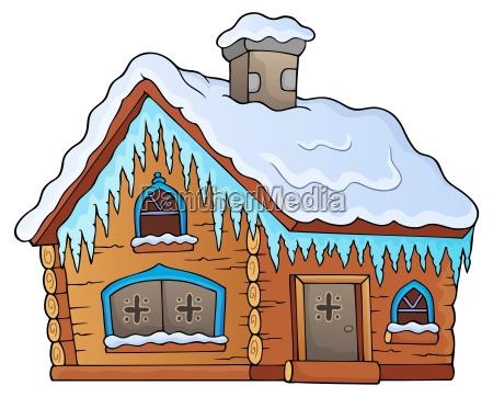 winter cottage theme image 1