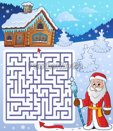 maze 3 with father frost theme