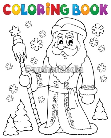 coloring book father frost theme 1