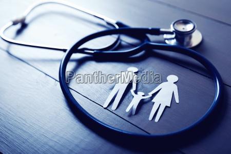 familiengesundheits und versicherungskonzept