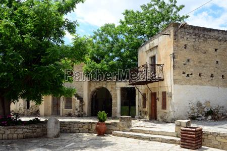 mountain village on crete