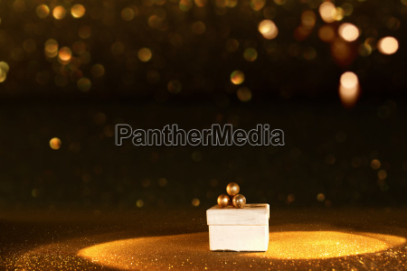 golden bokeh background with a luxury