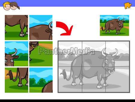 jigsaw puzzles with bull farm animal
