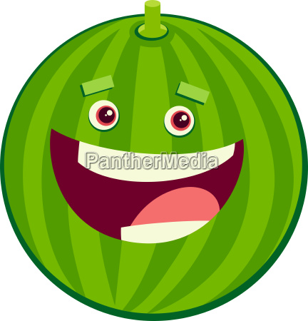 cartoon watermelon fruit character
